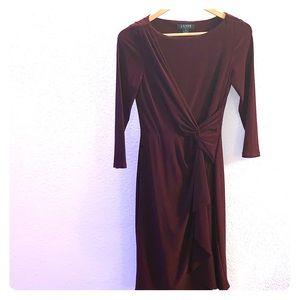 Maroon Ralph Lauren Knee Length Dress